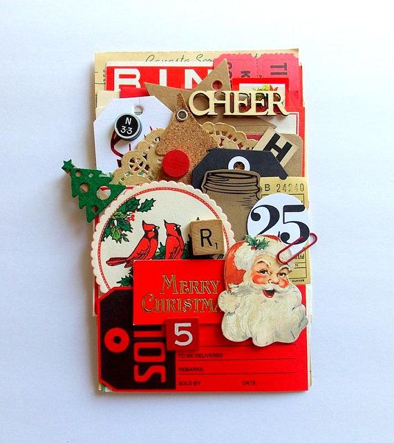 Rustic Christmas Ephemera Pack / 40 Pieces / Daily Planner /