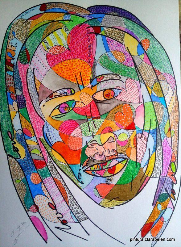 Retrato de Bob Marley neopop I | Clara Belén Gómez    #ilustracion #handmade #illustration #artsy #portrait #art #painting #walldecor #drawing #dibujo #hechoamano #handmade #modernart #dibujo #artist #galeria #masterpiece #retrato #portrait #neo_pop #neopop #gallery #arte