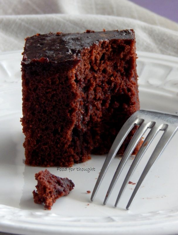 Food for thought: Κέικ με σιρόπι κακάο