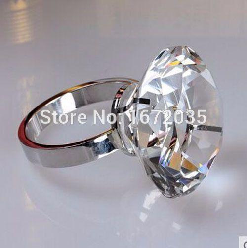 4 stks 40mm nieuwe diamond servetring servet houder wedding banket diner decor favor romantische tafel decoratie presse-papier(China (Mainland))