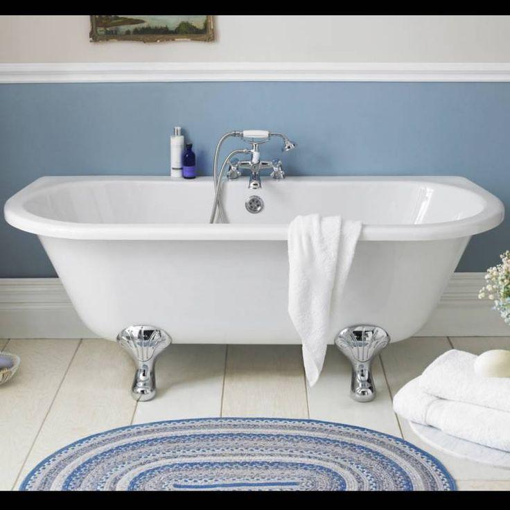 Hudson Reed Freistehende Badewanne Zum Anlehnen An Die Wand 10