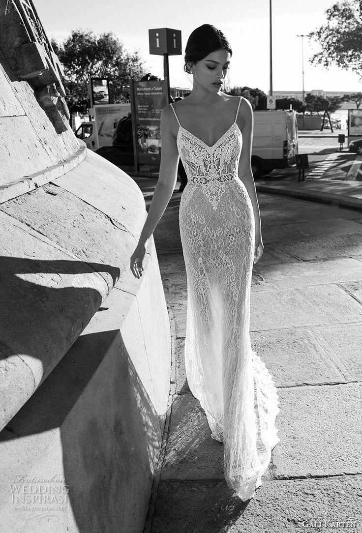 gali karten 2017 bridal spaghetti strap v neck full embellishment elegant sheath wedding dress open back chapel train (6) mv -- Gali Karten 2017 Wedding Dresses