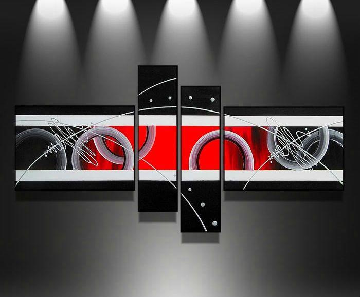 НОВЫЙ Бесплатная Доставка ручная роспись стены искусства серебряные Красные линии указывают украшения дома абстрактный Пейзаж маслом, DY-1091
