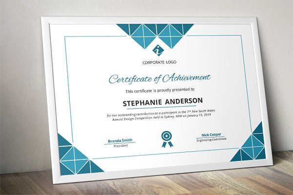 Triangles corporate Word certificate - Stationery - 1