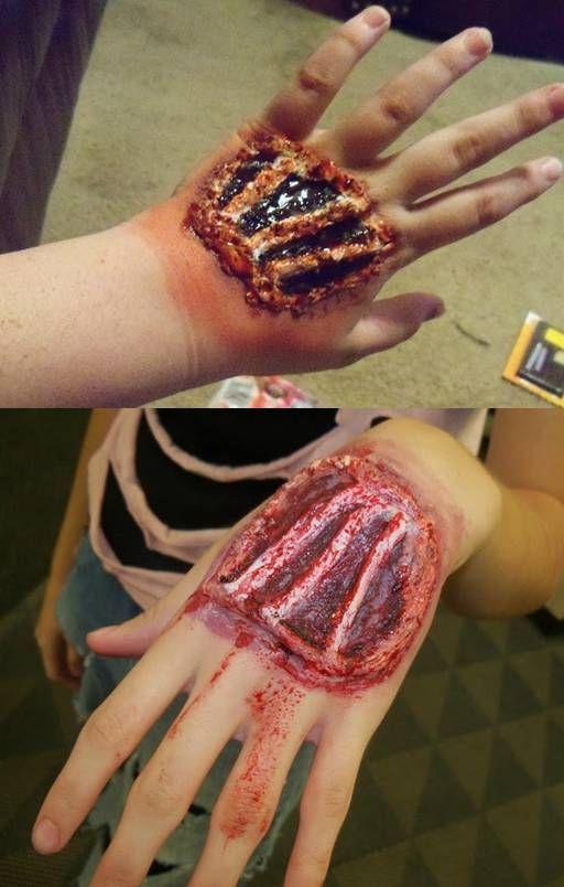 Halloween Makeup Gory Tendons Halloween Makeup