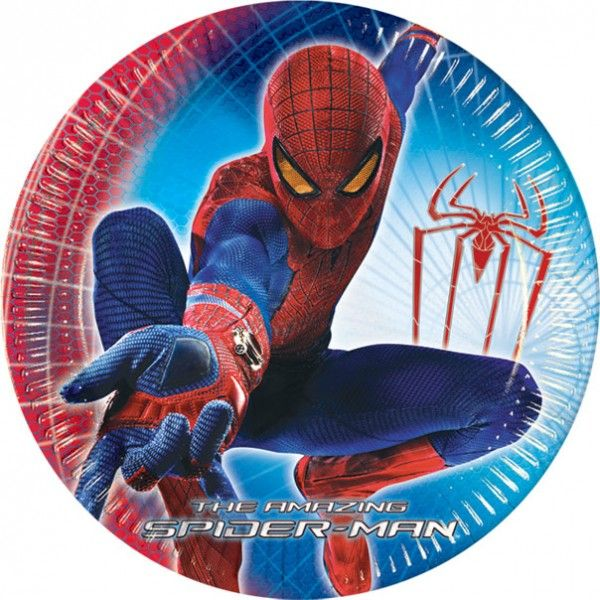 Partyteller 23cm The Amazing Spiderman, Kindergeburtstag, Mottoparty