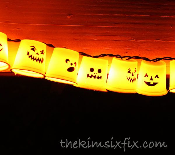 Recycled K-Cup Halloween Lights - Since Keurig K-Cups Cannot be recycled I have been saving them and saving them trying to think of a craft I could use them for…