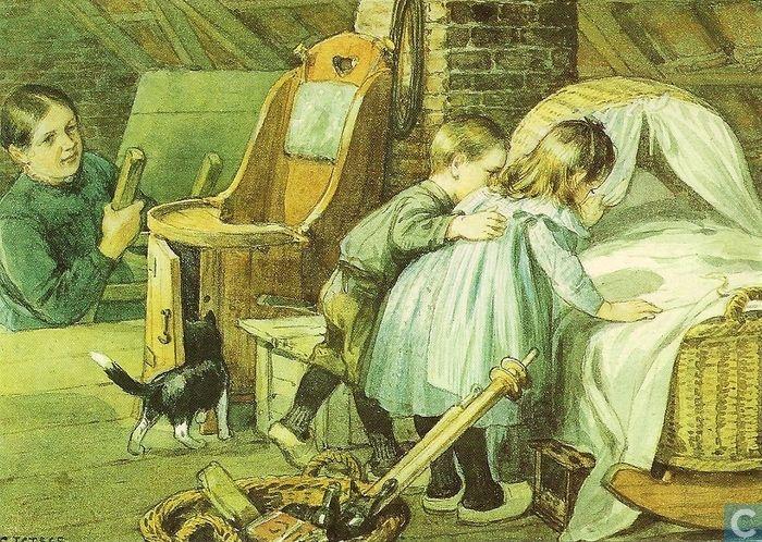 Ansichtkaart - Kinderkaarten - Ot en Sien