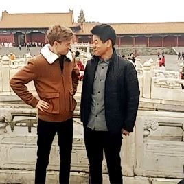 Thomas Sangster and Ki Hong Lee in China  gif
