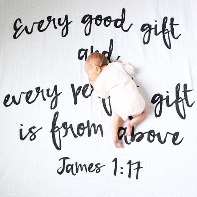 """""""Every good gift and every perfect gift is from above and comes down from the father - James 1:17""""    Precious beyond words!    Scripture swaddle blankets restocked at littlebipsy.com . . . 📸 @seventhbixel  Brand: @modernburlap . . . #littlebipsy#littles#modernburlap#baby#babygirl #babyshower#babybump #babylove #babyshop#babys#momlife#newborn #infant#igers#igbabies #childofgod#blessed#ivfjourney#ivfsuccess#pregnant#pregnancy#20weeks#30weeks#mommy#newmom#shopsmall#love #sunday#babyboy…"""