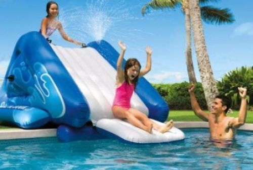 Details About Inflatable Water Slide Pool Toy Kids