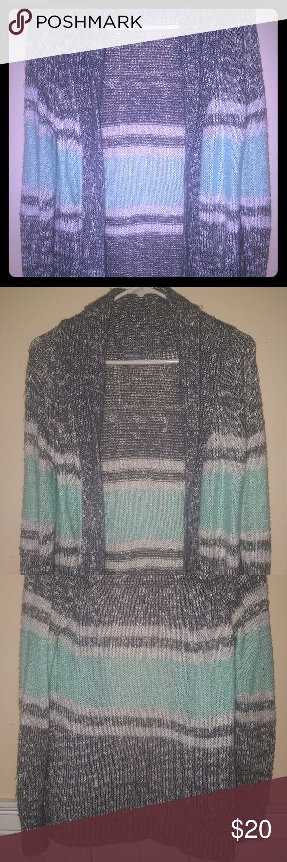Cozy Aztec Sweater Cardigan Soft wool In great condition.  I've had my time w/ it Charlotte Russe Sweaters Cardigans