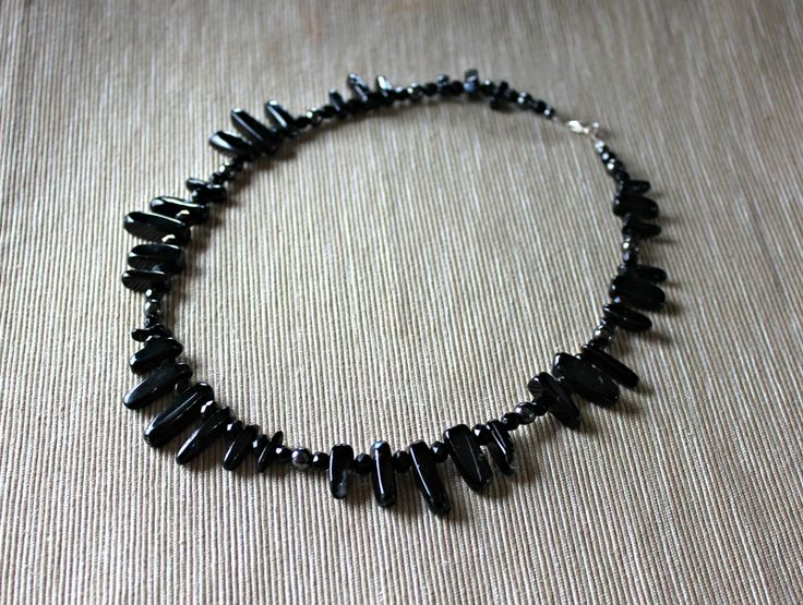 Necklace with black agate, hematite and glass from Especially for You Available on http://en.dawanda.com/shop/Especially-4-You  facebook.com/especiallyfryou