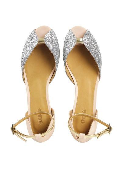 Sandales plates pailletées Juliette Rose by EMMA GO