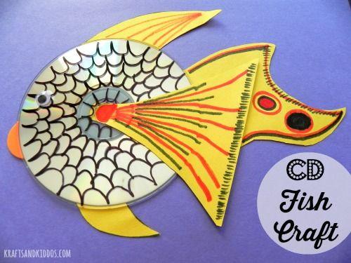CD Fish Craft from Krafts and Kiddos