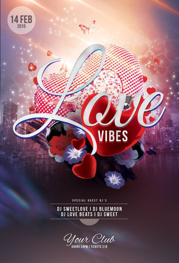 Best Valentine Flyer Design Images On   Flyer Design