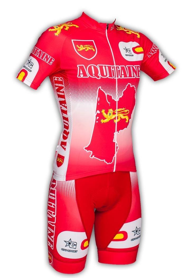 Gvt Aquitaine Bike - Maillot et cuissard cycliste homme en édition limitée