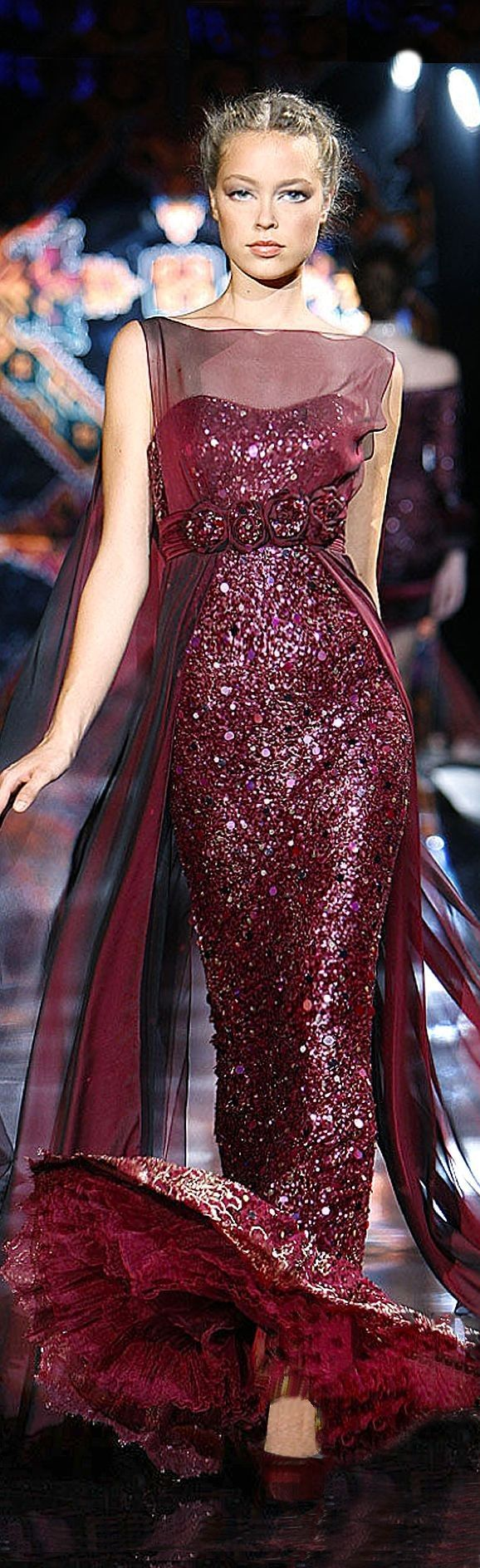 ⌘ c o c k t a i l s ⌘ c o u t u r e ♠️ {perfect cocktail dress. drink in style} ⌘ The Millionairess of Pennsylvania: Zuhair Murad burgandy red evening gown