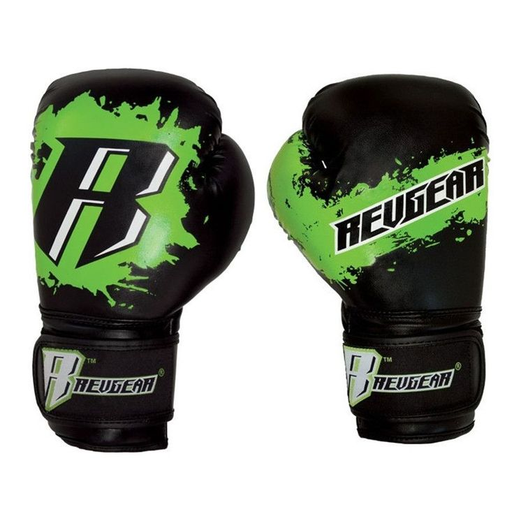 Deluxe Weight Lifting Gloves St12007: REVGEAR YOUTH DELUXE BOXING GLOVE BLACK GREEN