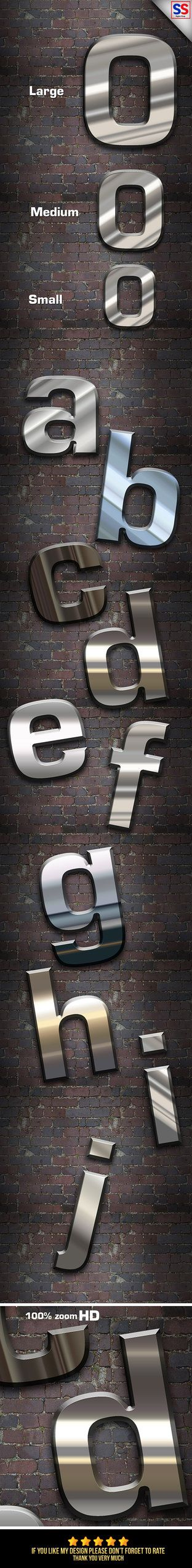 DOWNLOAD:   goo.gl/AJssgsHD Metal Styles (Text Effect or Shape)This Text Effect is a Professional Photoshop Layer Styles, in this set, includes sources files Psd, ASL, and Help fi...