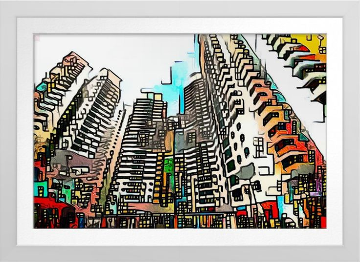 Singapore HDB's - Art On Canvas Print. Singapore housing. Original art by Roger Smith. Reproduced on Premium Canvas http://www.zazzle.com/singapore_hdbs_art_on_canvas_print-228896122925386741 #Singapore #art #HDB #print