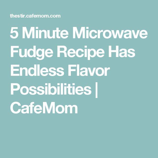 5 Minute Microwave Fudge Recipe Has Endless Flavor Possibilities | CafeMom