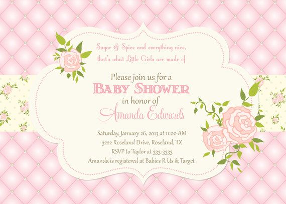 39 best rose baby shower images on pinterest garden baby quilted rose baby shower invitation printable on etsy 1700 filmwisefo Gallery