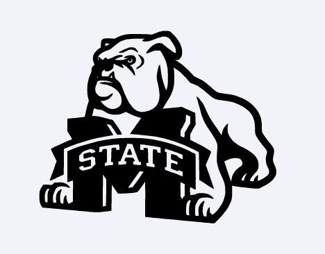 Mississippi State Bulldog Vinyl Decal Silhouette