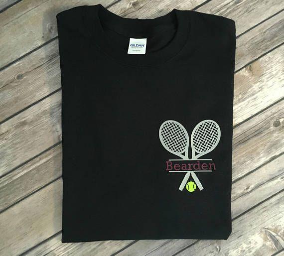 Adult Tennis Shirt Tennis T-Shirt Monogrammed Tennis Shirt