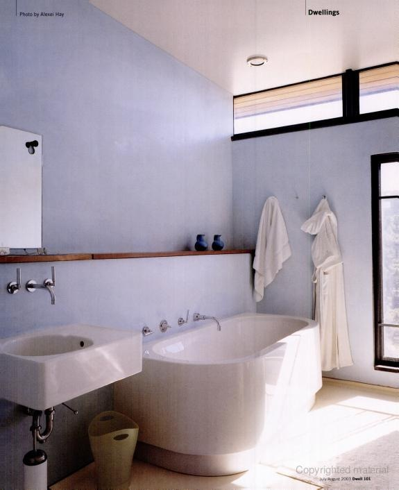 bath with ledge and duravit fixtures