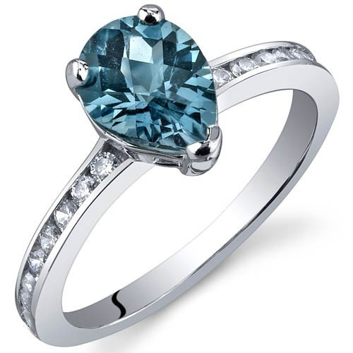 '1.25CT Genuine London Blue Topaz .925 Silver Ring' is going up for auction at  8am Mon, Dec 10 with a starting bid of $1.