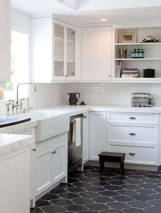 Small kitchen remodel floor on a budget small kitchen for Kitchen remodels on a budget photos