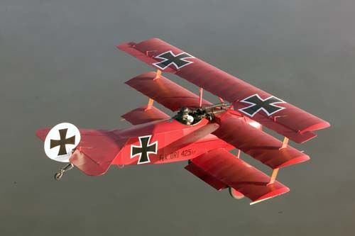 The Notorious Red Baron. Fokker DR-1 Tripane first seen in WWI.