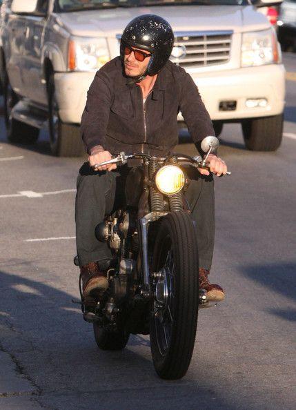 David Beckham Photo - David Beckham Cruising His Motorcycle In Hollywood #MOTORCYCLE #BIKERS #MOTORCYCLEFEDERATION