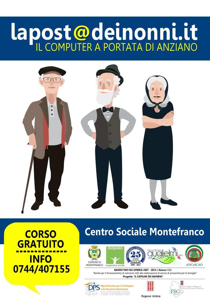 lapost@deinonni.it Corso di alfabetizzazione informatica  al Centro Sociale di Montefranco