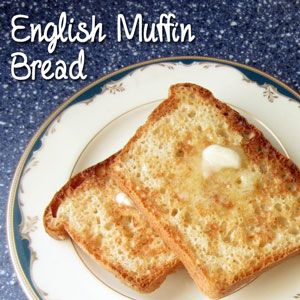 Fantastic Homemade English Muffin Bread or Muffins recipe - We're a fan of making the muffins and freezing them to take as needed. We also found the exterior of the loaf gets a bit too sharp for us after its cut.