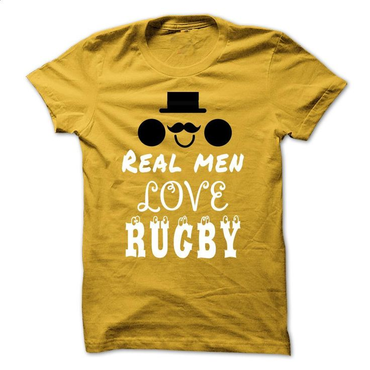 Real men love Rugby T Shirts, Hoodies, Sweatshirts - #retro t shirts #mens hoodie. PURCHASE NOW => https://www.sunfrog.com/Sports/Real-men-love-Rugby-Yellow-46766395-Guys.html?60505