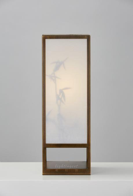 【Lightingest】Zen Chinese style The shadow of the bamboo table lamp【最灯饰】5月新品禅意新中式设计师样板房客厅卧室书房茶室台灯