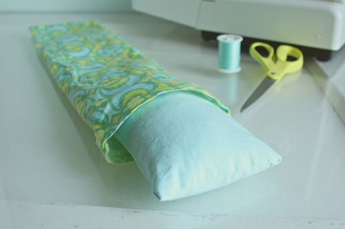 DIY microwavable neck pillowwrap with essential oils