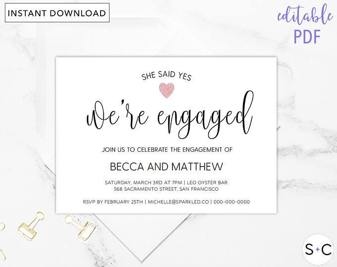 Более 25 лучших идей на тему «Engagement invitation template» на - engagement invitation template