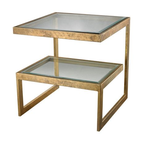 Key Side Table In Gold Leaf   – Products