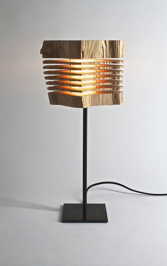 Reclaimed Wood Sculpture Illuminated Art by SplitGrain on Etsy, $650.00