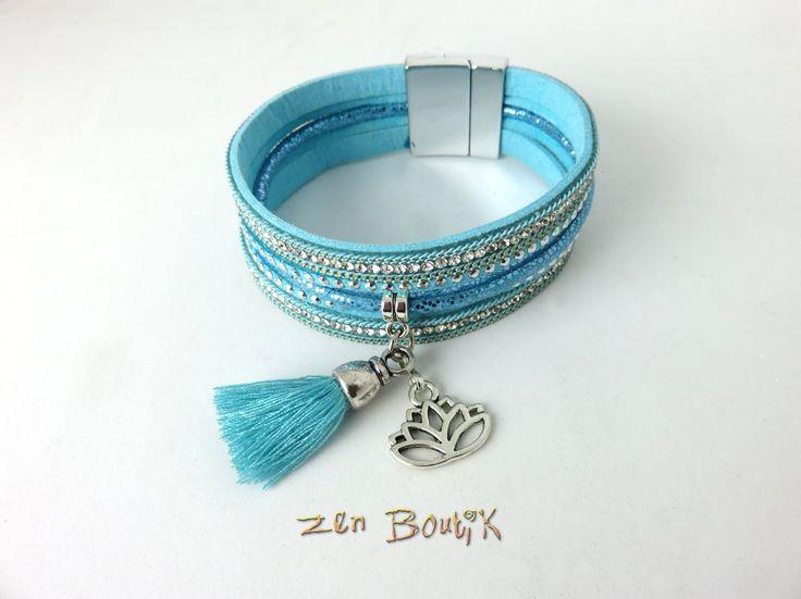 Bracelet Zen, Boho Chic, Manchette, Multirangs, Lotus, Mode, Bijoux Zen Boutik : Bracelet par zenboutik