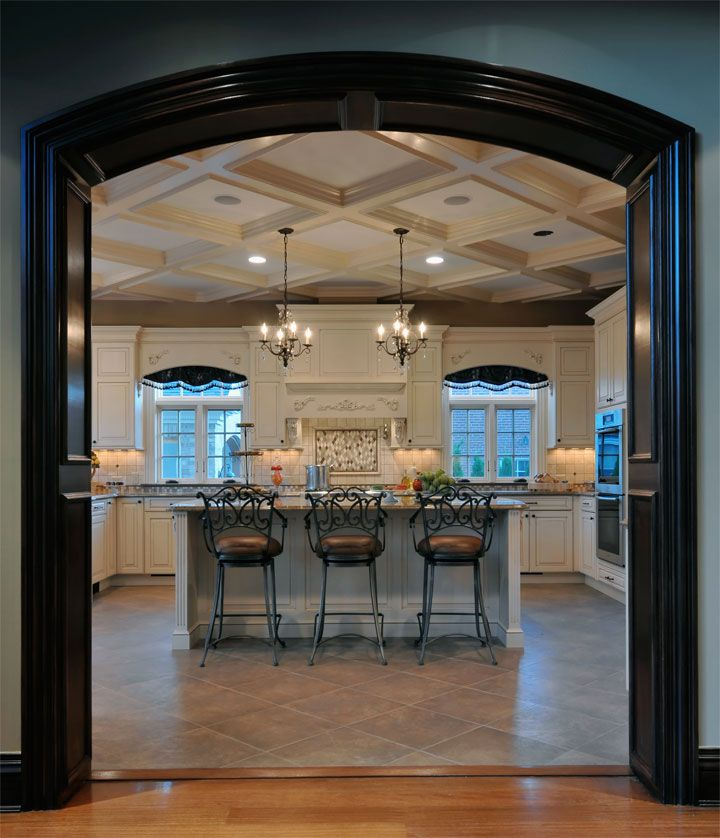 Kitchen Designs by Ken Kelly recently finished this elegant Long Island  kitchen in Garden City New York for a large scale room with grand coffered  ceilings 46 best Open kitchen images on Pinterest   Kitchen  Open kitchens  . Allure Kitchen And Bath Long Island. Home Design Ideas