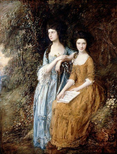 Elizabeth and Mary Linley- Gainsborough,Thomas-c.1772, retouched 1785,Dulwich Picture Gallery. Элизабет Энн Шеридан,в девичестве Линли (7.09.1754-28.06.1792) 2-я дочь (и второй ребенок из 12) композитора Томаса Линли и его жены Мэри Джонсон,к-рая впослед.стала женой драматурга Ричарда Бринсли Шеридана.