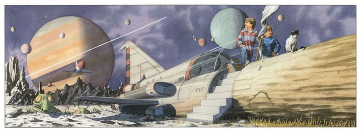 """""""Rocket Ship"""" original watercolor illustration by David Wiesner from Hurricane 
