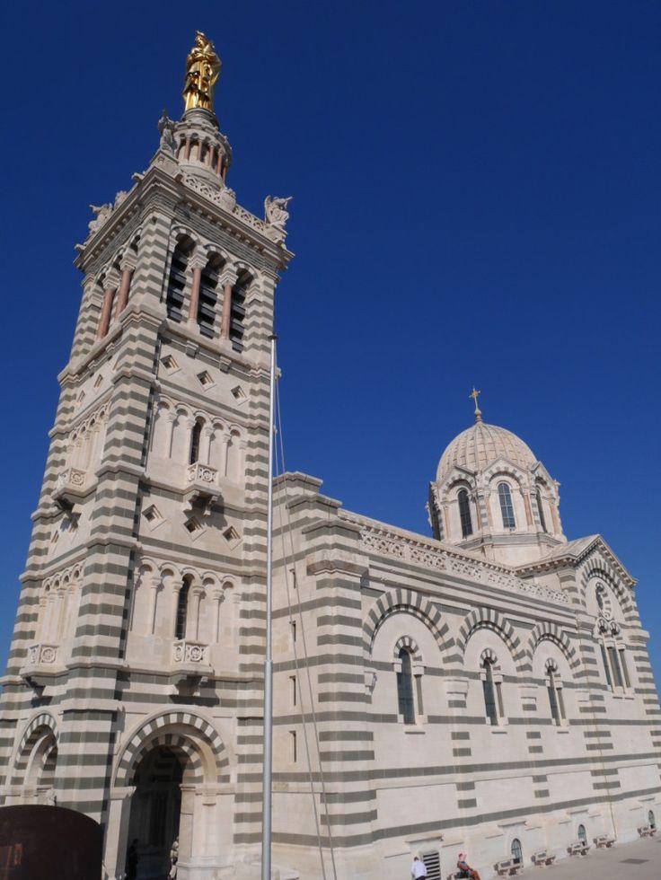 Basilique Notre Dame de la Garde, Marseille, France - what a gorgeous day!