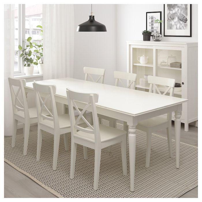 Extendable Ikea Ingatorp Table White In 2020 Ausziehtisch