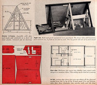 Kevin Kidney: A-Frame Doll House from Sunset Magazine