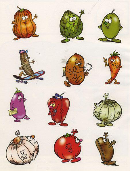 Vegtables stickers